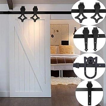 cartkningts 2 m Kit Herraje de puerta corredera puerta corredera puerta corredera sistema de rail suspendida para puertas correderas intérieures cuarto de baño, diseño de dormitorio, cocina, puerta de balcón) (2 M):