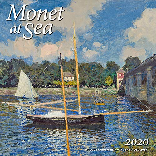 2020 Christmas Paintings - Monet at Sea Wall Calendar 2020 Monthly January-December 12'' x 12