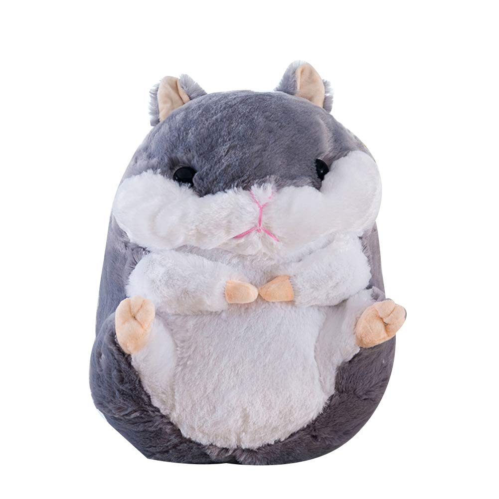 xinYxzR Cute Sitting Hamster Plush Toy Simulation Animal Stuffed Doll Pillow 40/50/60cm Brown 60cm