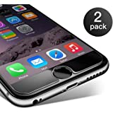 Pellicola Vetro Temperato iPhone 6 Plus / 6s Plus,Coolreall® 2 Pack 9H Durezza ultra Resistente Pellicola Vetro per iPhone 6 Plus / 6s Plus [0,25mm HD Alta trasparente]