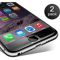 Coolreall Verre Trempé iPhone 6s plus/6 plus, [2 Pack] Film Protection en Verre trempé écran Protecteur Vitre pour iPhone 6 plus/6s plus (5.5 Pouces), Dureté 9H 0.25mm HD Ultra Transparent