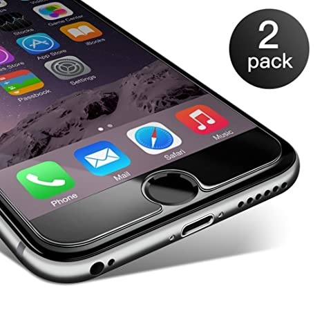 Pellicola Vetro Temperato iPhone 6 Plus / 6s Plus,Coolreall® 2 Pack 9H  Durezza ultra Resistente Pellicola Vetro per iPhone 6 Plus / 6s Plus  [0,25mm HD ...