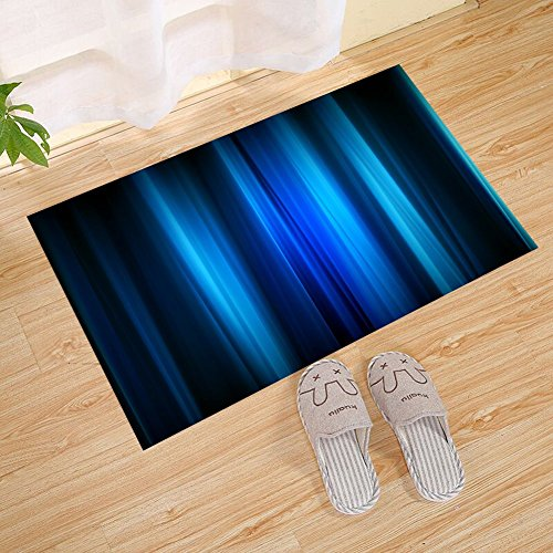 JANNINSE Marine Navy Blue Abstract Vertical Stripes Door Mat