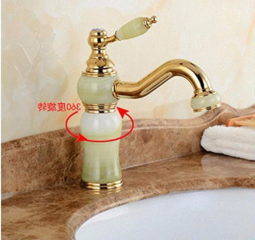 AWXJX Washbasin Hot And Cold Single Hole Single Handle Bathroom Blender Rotate Copper Sink Taps by AWXJX Sink faucet