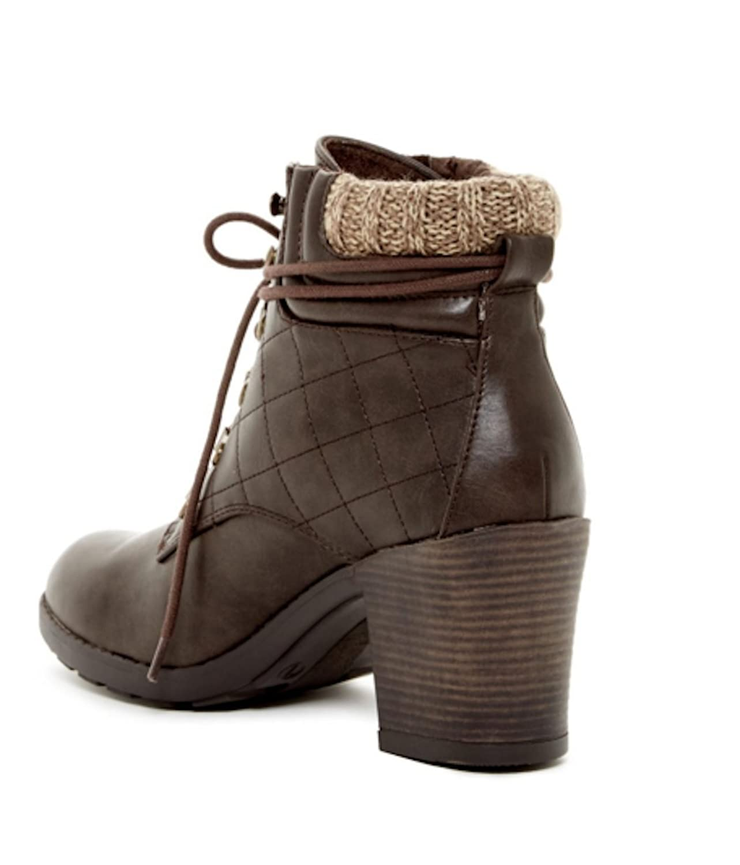 MIA Women's Teddy Chocolate Ankle Bootie, 11 M