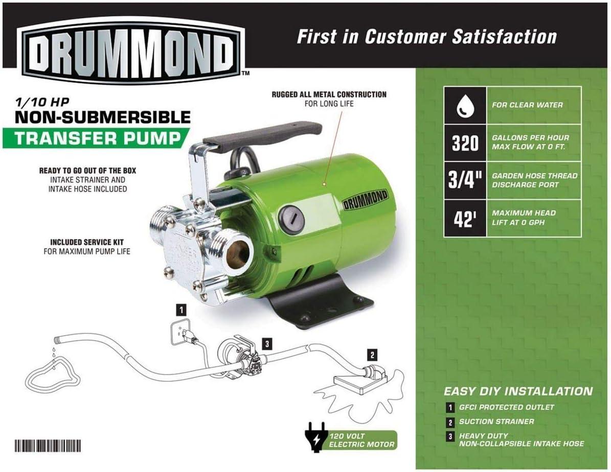 DRUMMOND 12/120 HP Bomba de transferencia 12 GPH