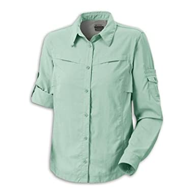 9aaf32a469 Columbia Sportswear Women's Omni-Shade Silver Ridge III Long Sleeve Shirt  at Amazon Women's Clothing store: