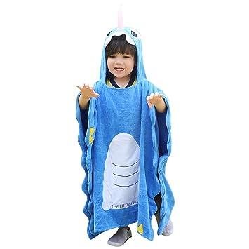 Einhorn Kinder Handtuch Poncho Mit Kapuze Aus 100 Baumwolle