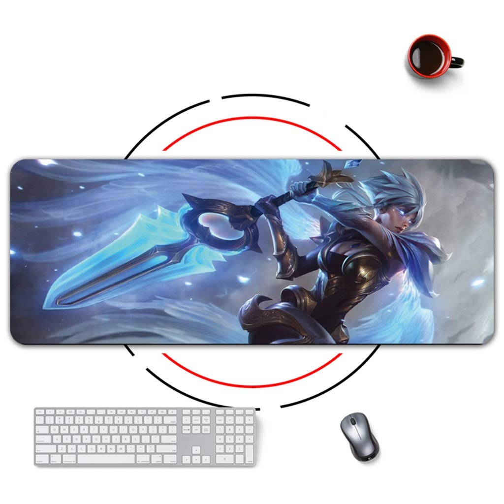 QYLOZ Wear-Resistant Laptop Desk Mat Multifunctional Large Waterproof Game Extended Mouse Pad Thicken Non-Slip Rubber Base Clear Pattern Not Easy to Fade (Color : D, Size : 5mm) by QYLOZ