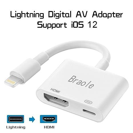 Amazon.com: Compatible con iPad iPhone a HDMI cable ...