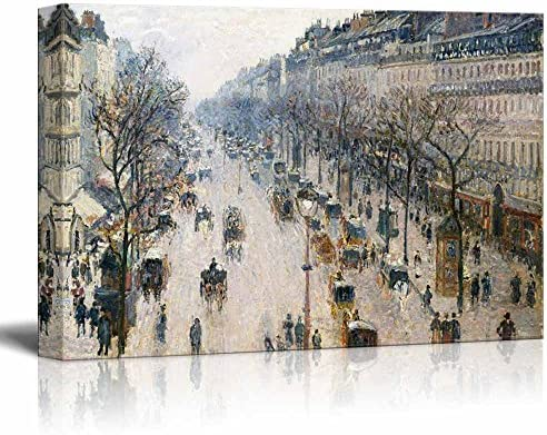 The Boulevard Montmartre on an Winter Morning by Camille Pissarro Print Famous Painting Reproduction