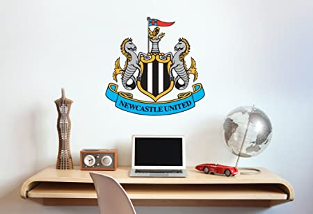 Newcastle united football club crest wall sticker set official merchandise decal football vinyl poster print