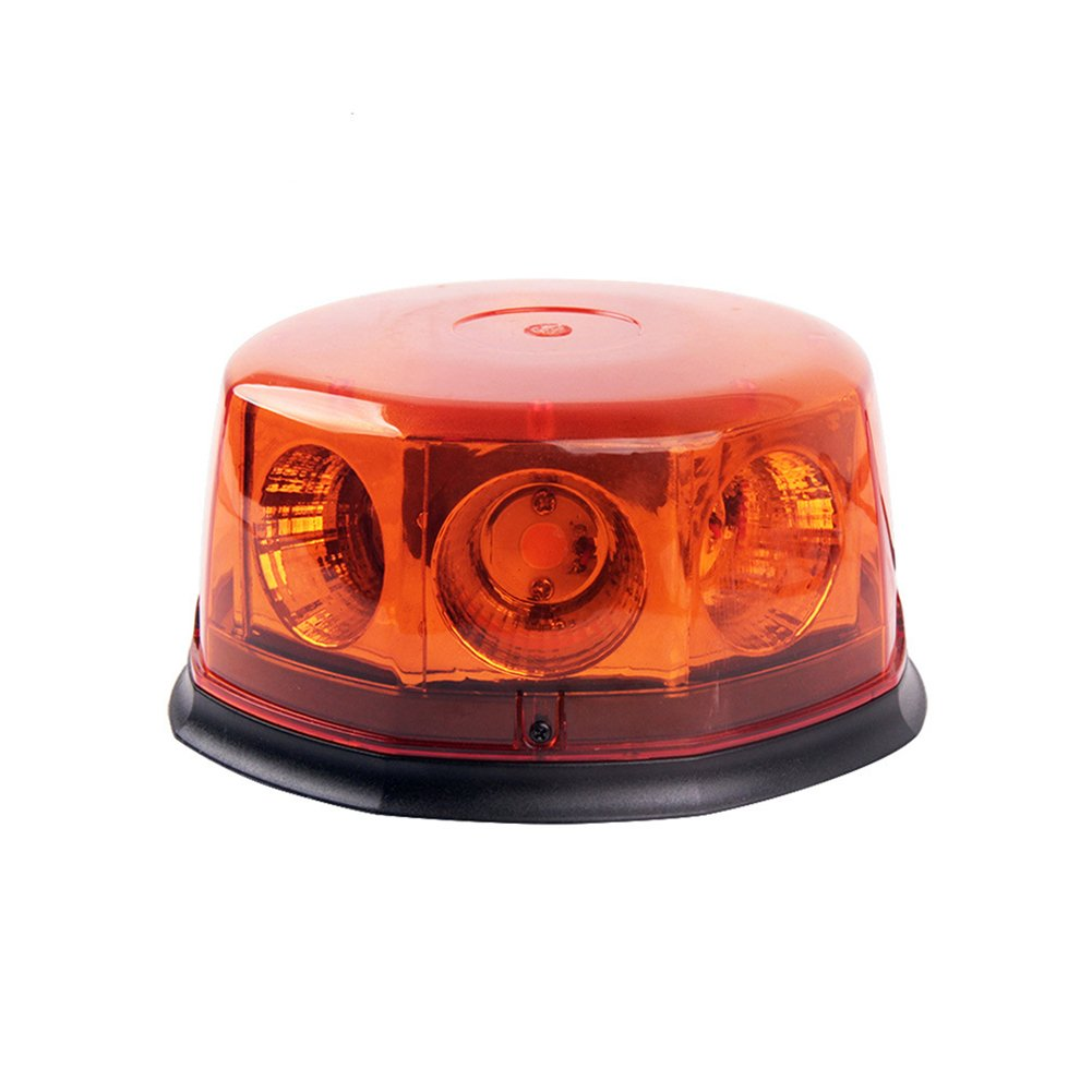 LEDHOLYT 8 LED Car Emergency Hazard Warning Beacon Strobe Lights 12v Flash Lights For Vehicle Car Van Truck Trailer SUV Safety - With Magnetic Base Clear Shell (Yellow)
