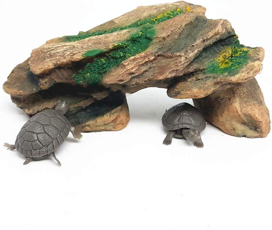 Turtle Reptile Island Dock Basking Platform Aquarium Fish Tank Simulation Rock Feli546Bruce Aquarium Accessories