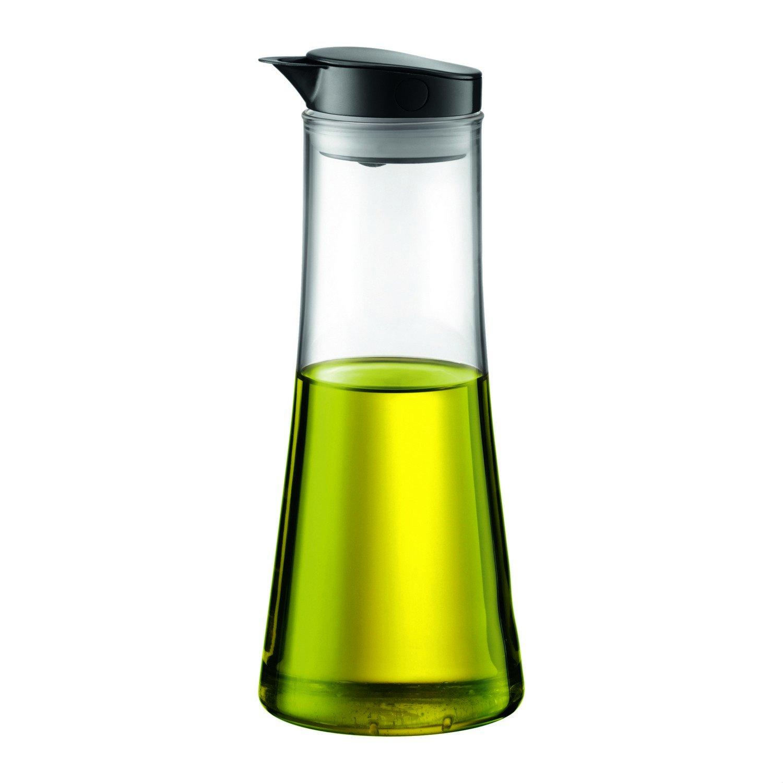 BODUM 11190-01s Oil or Vinegar Cruet, Black, Clear, 0.5l, glass, 9.7inch
