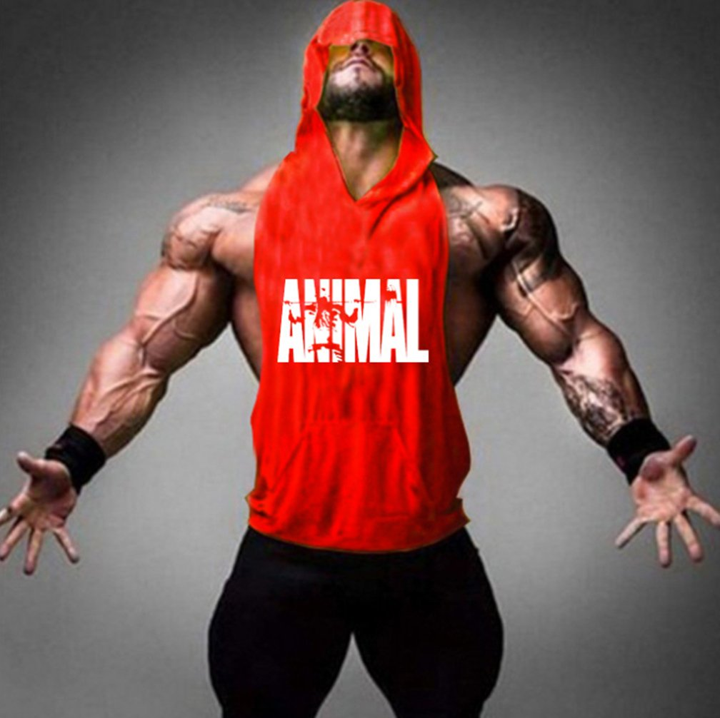 0f309e7f441b5 Befox Homme Débardeur à Capuche Maillot Sans Manches Bodybuilding Tank Top Athletic  Gym Fitness Musculation T-shirt Haut