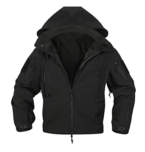 Rothco® Special Ops Negro táctico Soft Shell Chaqueta, Negro, XX-Large