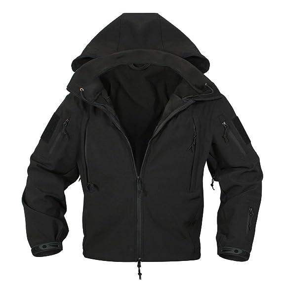 Rothco® Special Ops Negro táctico Soft Shell Chaqueta, Negro, XX-Large: Amazon.es: Deportes y aire libre