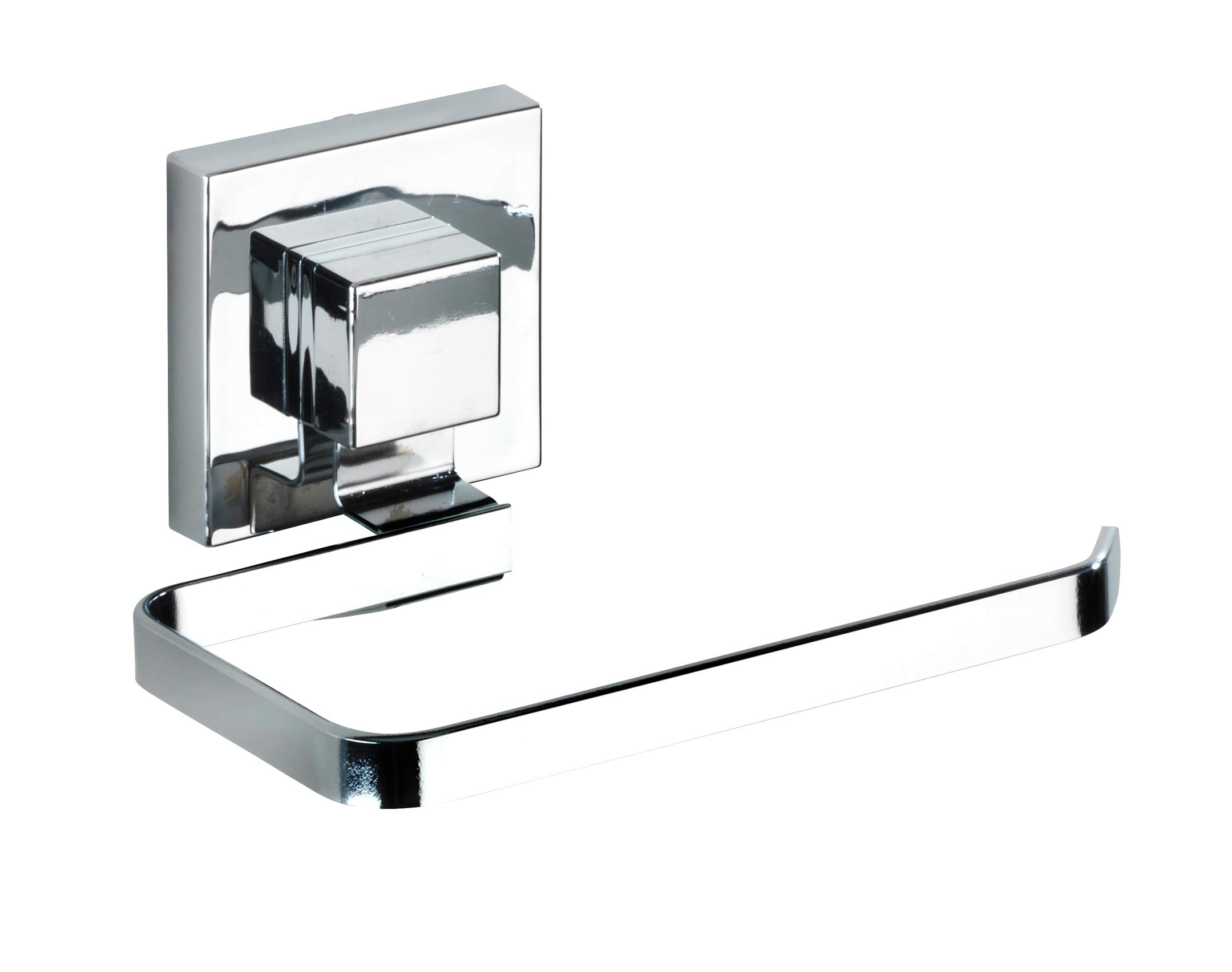 Wenko ''Quadro Toilet Paper Holder with Vacuum-Loc, Silver by Wenko