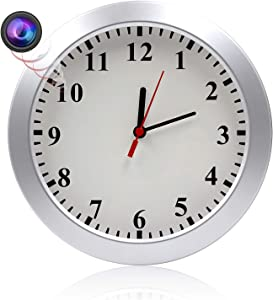 MAGHO Wall Clock Camera Nanny Cam with Motion Detection, Indoor Covert Security Camera for Home and Office, No WiFi Version