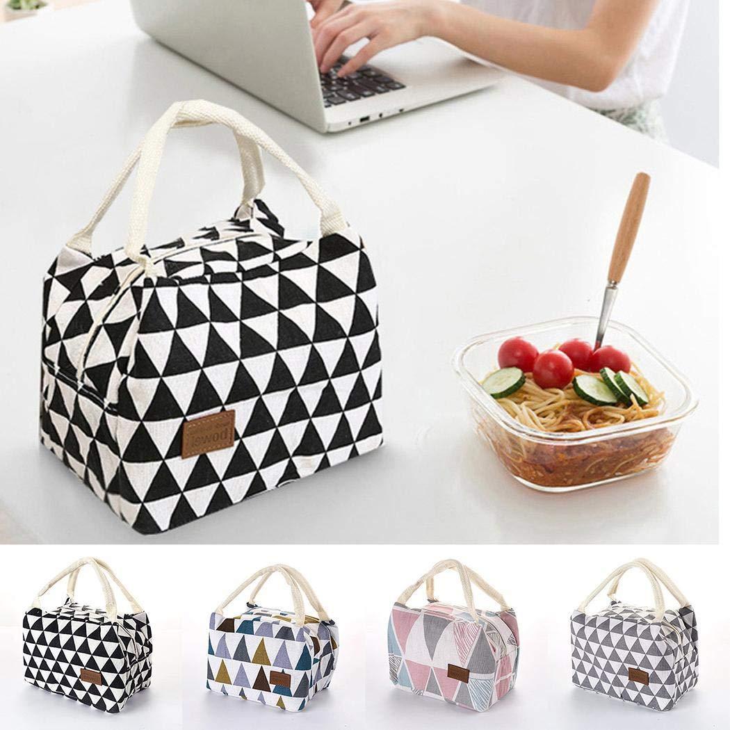 Oudiya Print Portable Waterproof Insulated lunch Bag Food Bags Space Saver Bags