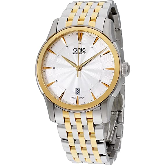Amazon.com: Oris Artelier Date Silver Dial Stainless Steel Mens Watch 73376704351MB: Watches