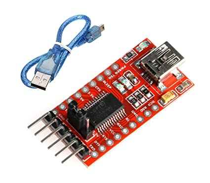 CentIoT® - FTDI FT232 FT232RL USB to UART TTL Serial Adapter Module - with  USB Mini B Cable