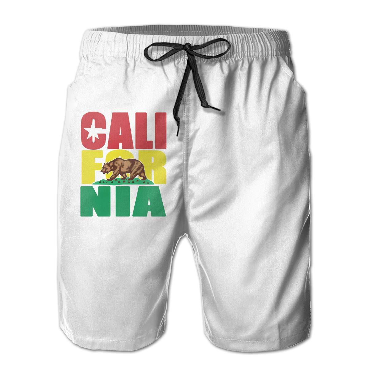JF-X California Republic Mens Summer Beach Surf Board Shorts Quick Dry Swimming Trunks Casual Loose Sleep Short Pants
