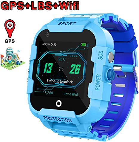 Amazon.com: OOLIFENG Kids Waterproof GPS Smart Watch, 4G ...
