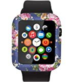 Case For Iwatch 38mm,Compatible Replacement Cover For Apple Watch Sport Edition Elegant Beautiful Luxury Purple Flowers Design Series 1 Series 2 Series 3