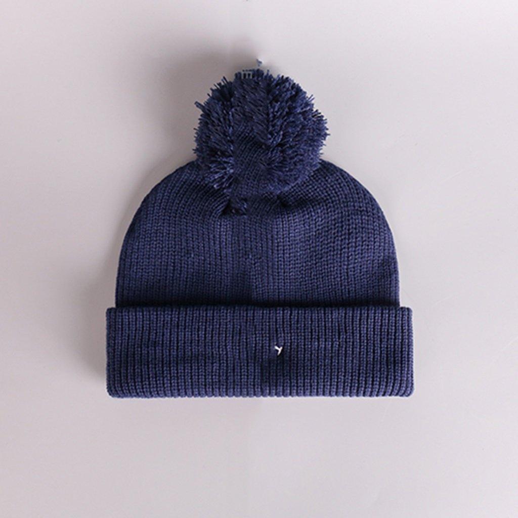 Cappello lana modelli coppia multicolore uomini donne cappello a maglia può essere utilizzato come regalo di Natale ( Color : Blue )