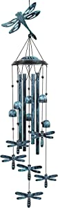 Monsiter QE Wind Chimes, Outdoors Wind Chimes with 4 Aluminum Tubes - Dragonfly Wind Chime with S Hook, Wind Bells Hanging Decorate for Patio, Garden, Backyard or Porch