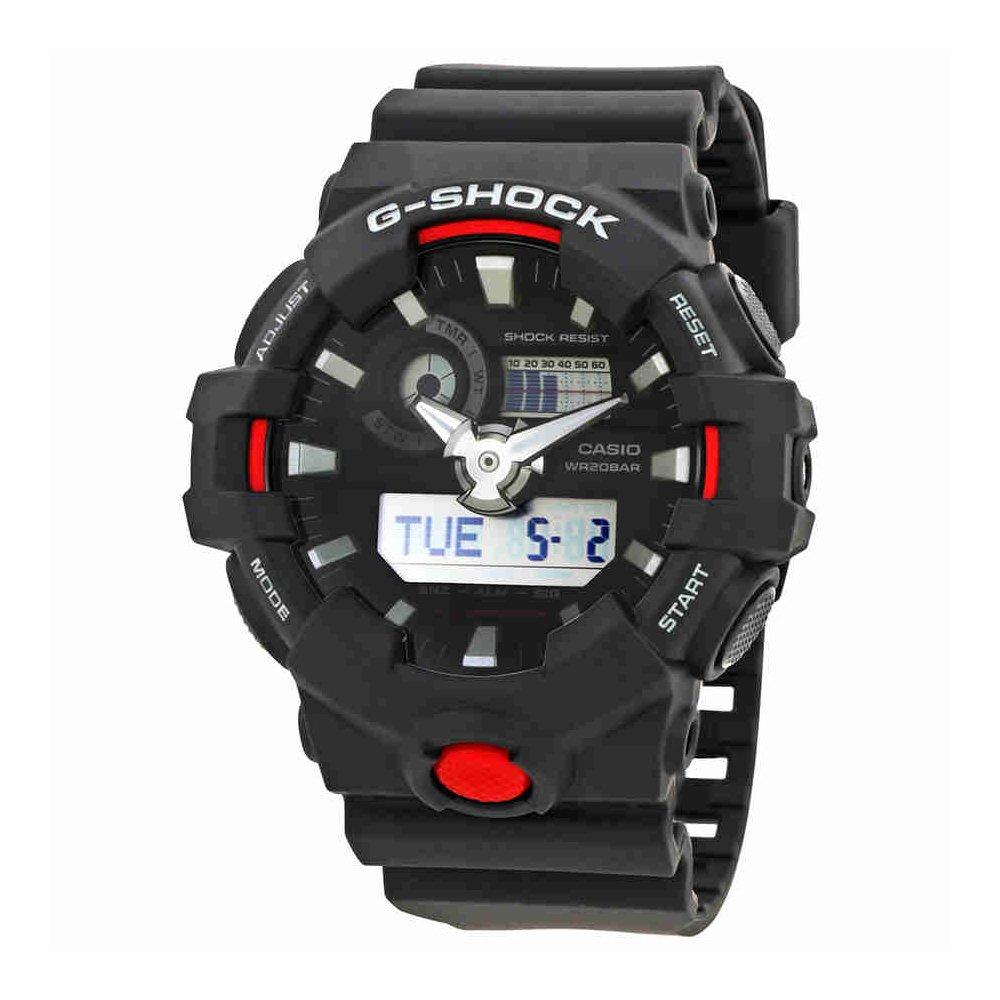 Casio Men's 'G Shock' Quartz Resin Casual Watch, Color:Black (Model: GA-700-1ACR) by Casio