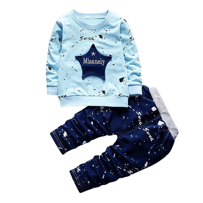 new arrivals 47a19 50175 Kindermode günstig Neugeborenes Baby Boy Star Print Top + ...