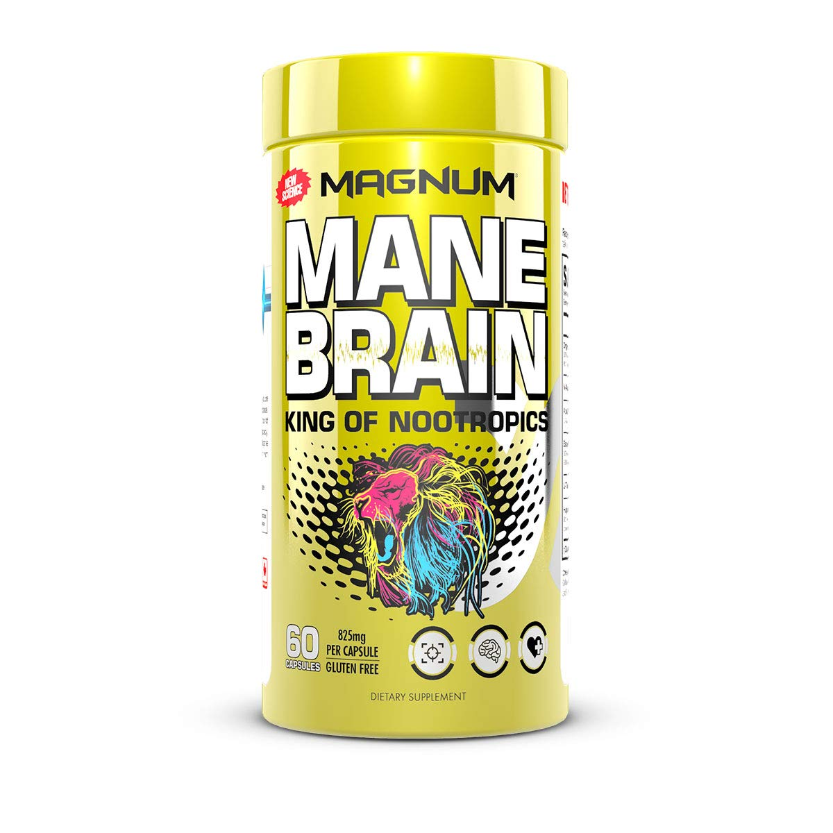 Mane Brain Nootropic Supplement 60 Capsules