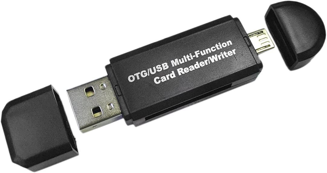 JullyCAnnice Multifunction Smart OTG Card Reader Writer High-Speed USB 2.0 SD Micro-SD Card Reader USB Adapter for Android Phone Computer