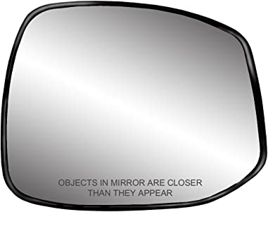 Fit System 80270 Honda Civic Right Side Power Replacement Mirror Glass with Backing Plate