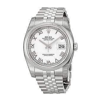 Amazon.com Rolex Datejust White Roman Dial Jubilee Bracelet
