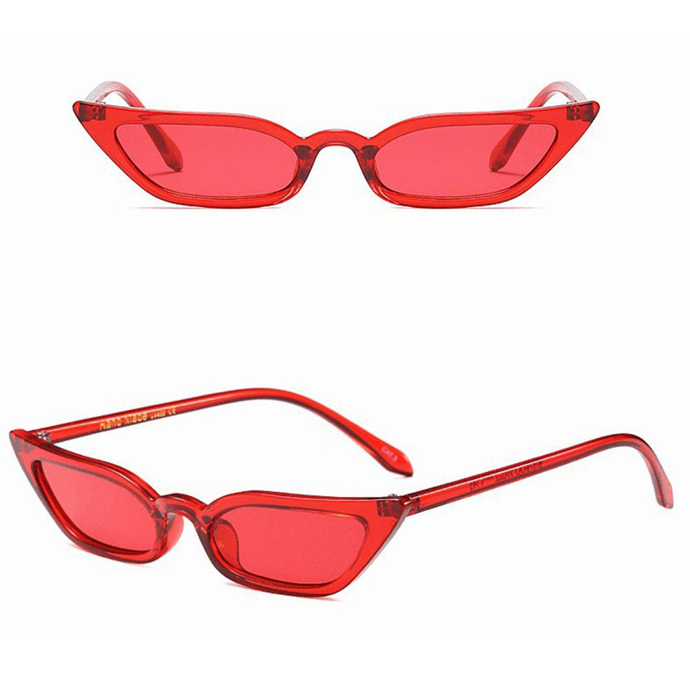 Kinglly Retro Vintage Cateye Sunglasses for Women Plastic Frame Mirrored Lens
