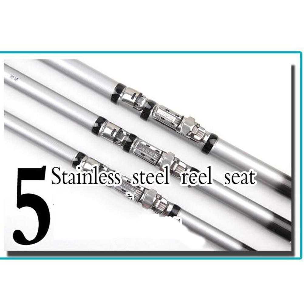 lxr Professional Telescopic Fishing Rods Carbon Fiber Superhard Powerful Fishing Rod Casting Fishing Pole 7.2 m