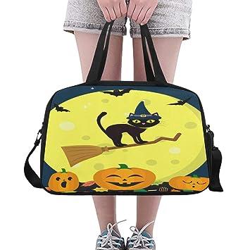 Amazon.com: Bolsas de yoga para Halloween, gato negro, con ...
