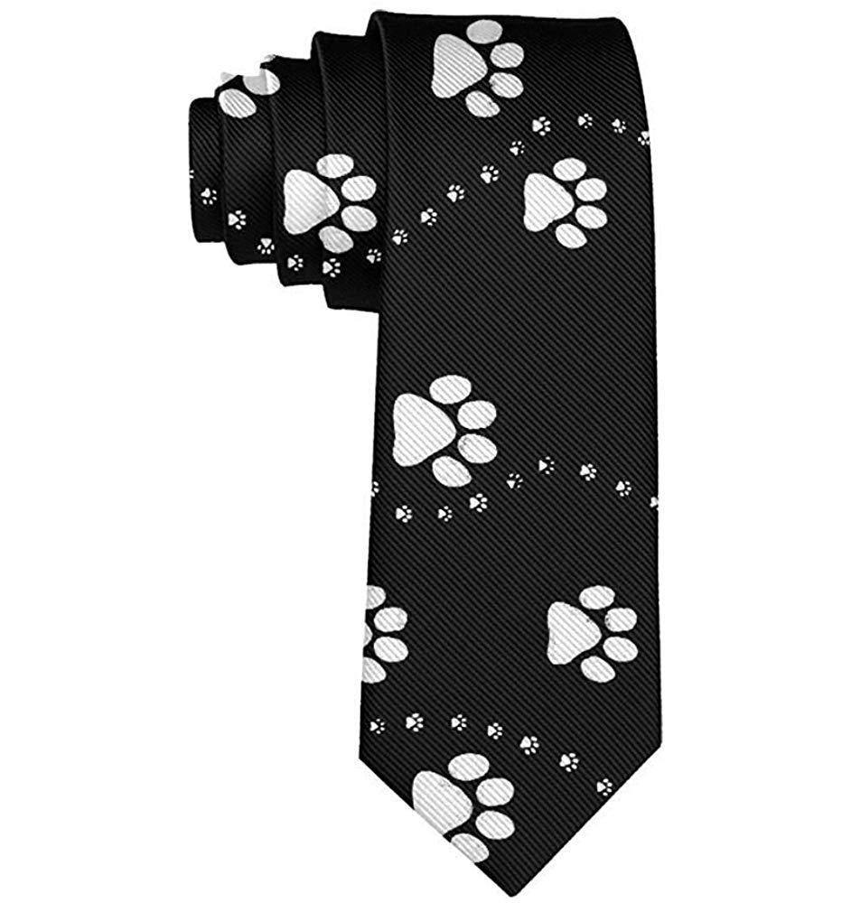 Corbata negra con estampado de pata de perro y corbata a la moda ...