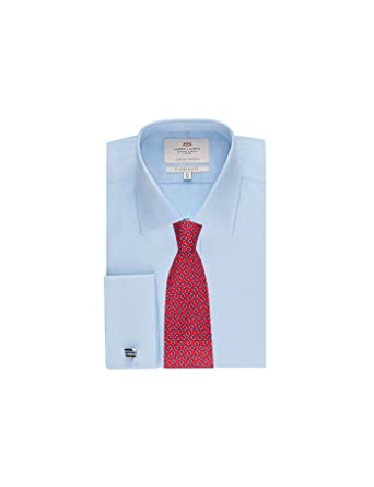 b7f6e6fddee HAWES   CURTIS Mens Poplin Slim Fit French Cuff Easy Iron Formal Dress Shirt