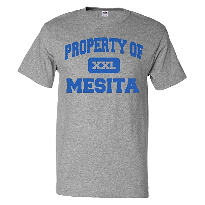 Amazon.com: ShirtScope Property of Mesita CO T shirt Funny ...