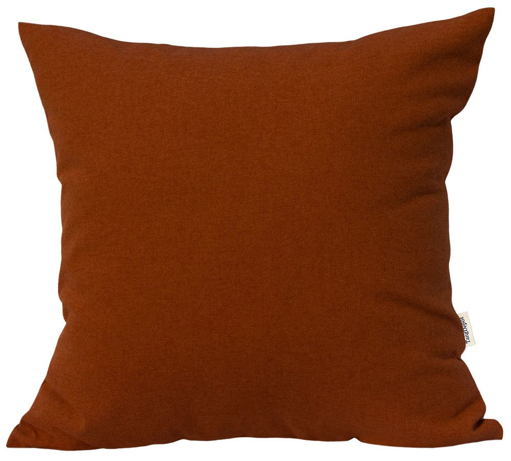 TangDepot Solid Wool-like Throw Pillow Cover/Euro Sham/Cushion Sham, Super Luxury Soft Pillow Cases - Handmade - Many Colors & Sizes Avaliable - (28''x28'', Burnt Orange)
