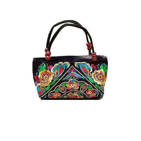 Amazon.com: Bolso de mano para mujer de tela de lona étnica ...
