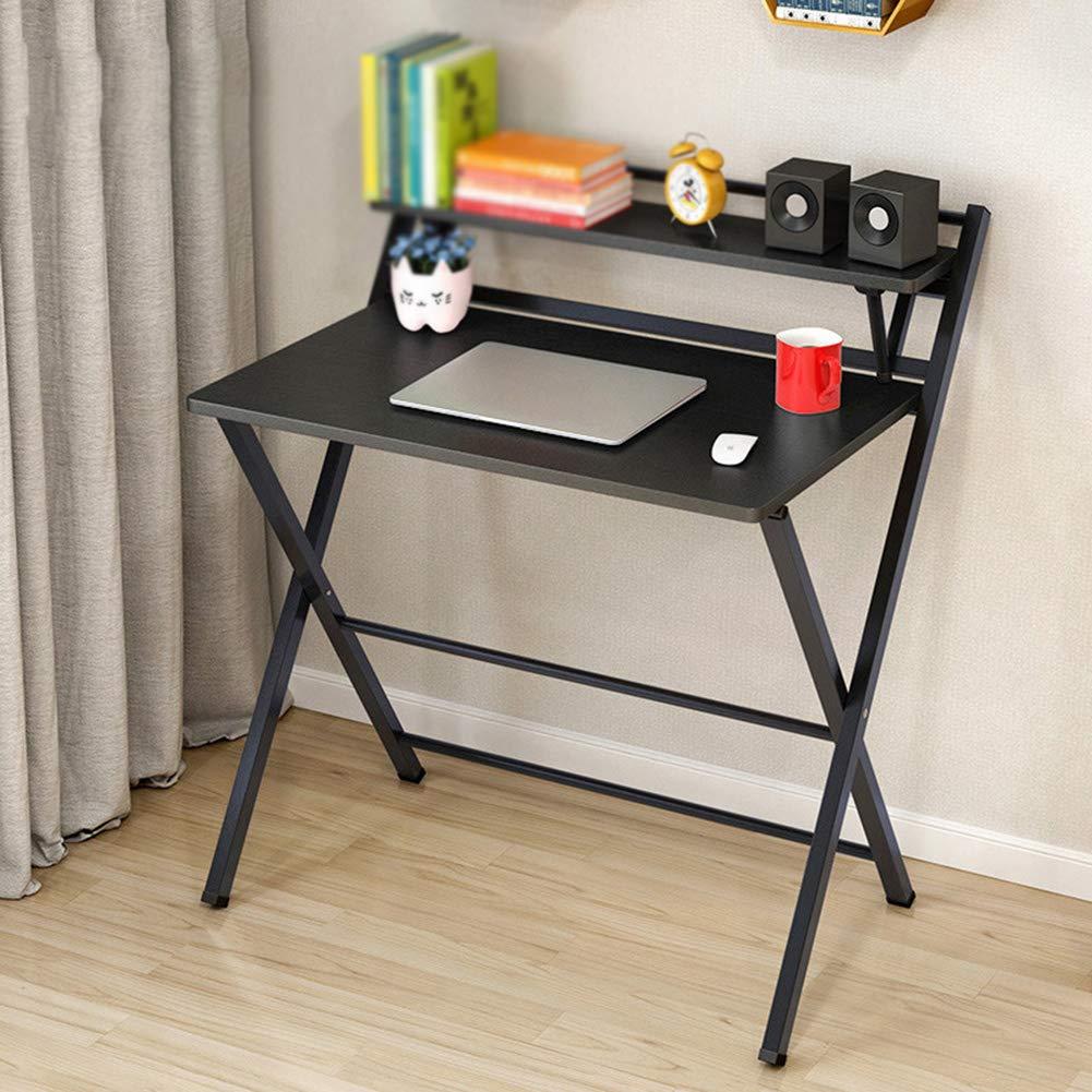 ポータブルコンピュータデスク 折りたたみ可能 デスクトップ シンプル 多機能小型テーブル 学生 家庭,Black  Black B07GT67HPY