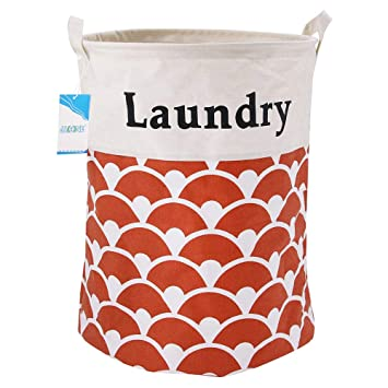Multi Color Owls Wire Laundry Basket Pail and Hamper with Handles Waterproof