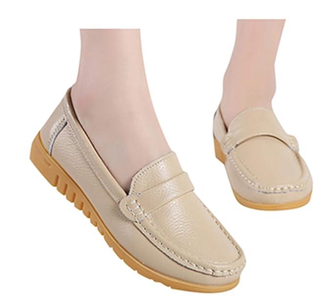 fde36df4100f8 Amazon.com: Women Flat Shoes Peas Shoes Office Workout Shoes Comfy ...