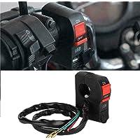 Alluseful NIEUW Motorfiets Stuur Oplader koplamp Schakelaar USB Telefoon Oplader 12V ABS Waterdicht